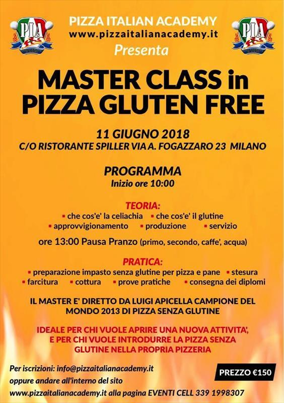Master class in pizza gluten free