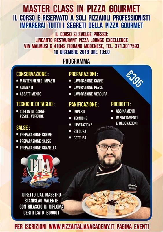 MASTERCLASS IN PIZZA GOURMET